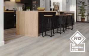podłoga w pokoju z aneksem kuchennym, podłoga w kuchni, panele winylowe do kuchni