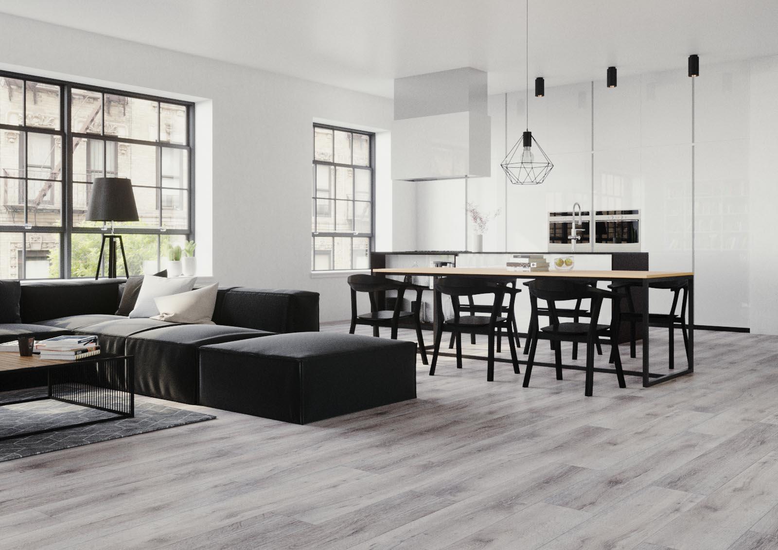 panele winylowe minimalistyczny styl