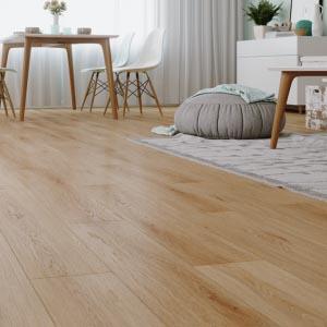 Bright oak floor for living room, one space one floor, new design